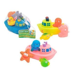 """Набор игрушек для ванны """"Корабль друзей""""  BABY TEAM"""
