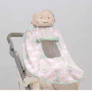 Развивающая игрушка для коляски и автокресла ТЕНИСТЫЙ ПОЛДЕНЬ UPF 50+, защита от UVA/UVB лучей