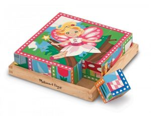 Деревянные кубики Melissa & Doug - Принцессы и феи, MD19040