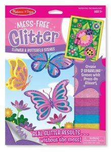 """Набор для творчества с блестящими наклейками """"Цветы и бабочки"""" Melissa & Doug"""
