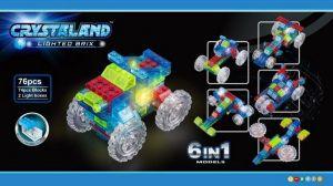 Светящийся конструктор CRYSTALAND Машинка 6 в 1