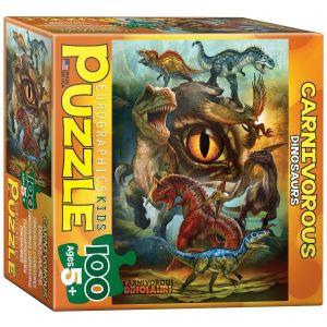 Пазл Eurographics Хищные динозавры, 100 элементов