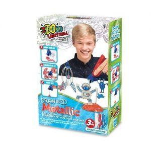 Набор для детского творчества с 3D-маркером МЕТАЛЛИК