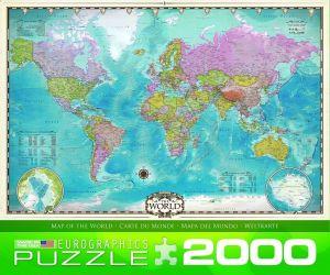 Пазл Карта Мира, Eurographics 2000 элементов