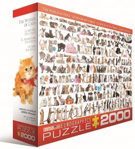 Пазл Eurographics Мир кошек, 2000 элементов
