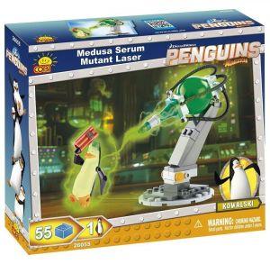 Конструктор Пингвины Мадагаскар COBI Мутирующий лазер Медузы, 55 деталей