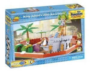 Конструктор COBI 'Приключения короля Джулиана в зоопарке', 400 деталей