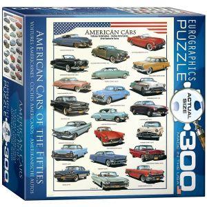 Пазл Eurographics Американские автомобили 1950х, 300 элементов