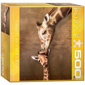 Пазл Eurographics Жирафы-материнский поцелуй, 500 элементов