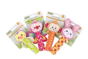 Игрушка с пищалкой Baby Team (Обезьянка, Бабочка, Гусеничка, Зайчик)