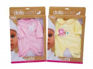 Игрушечная одежда для пупсов ростом до 41 см., DOLLS WORLD