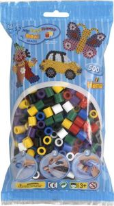 HAMA Набор цветных бусин, 500 шт., 7 цветов, Maxi 3+, термомозаика