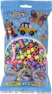 HAMA Набор цветных бусин, 500 шт., 6 цветов, Maxi 3+, термомозаика