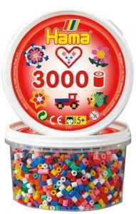 HAMA Набор цветных бусин, 3000 шт., 10 цветов, Midi 5+, термомозаика