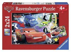 Пазл Тачки Дикие гонки, Ravensburger 2х24 элементов