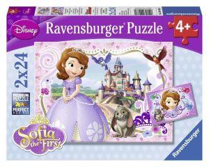 Пазл Приключения Принцессы Софии, Ravensburger 2x24 элемента
