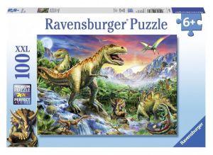 Пазл Время динозавров, Ravensburger 100 элементов