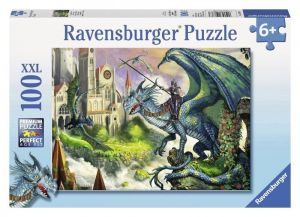 Пазл Ravensburger Всадник на драконе, 100 элементов