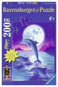 Светящийся пазл Ravensburger Дельфин в лунном свете, 200 элементов