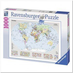 Пазл Ravensburger Политическая карта Мира, 1000 элементов