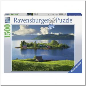 Пазл Ravensburger Остров в Хордаланне, Норвегия, 1500 элементов