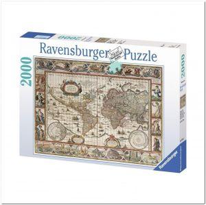 Пазл Ravensburger Карта Мира 1650 года, 2000 элементов