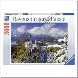 Пазл Ravensburger Нойшванштайн зимой, 3000 элементов