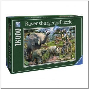 Пазл Ravensburger Водопой, 18000 элементов