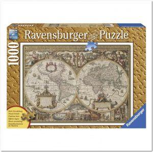 Пазл Древняя карта Мира Ravensburger, 1000 элементов