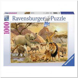 Пазл Дикая африканская жизнь, Ravensburger 1000 элементов