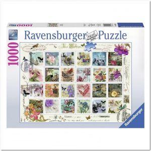 Пазл Старинные почтовые марки, Ravensburger 1000 элементов