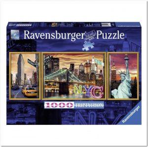 Триптих Пазл Ravensburger Сияющий Нью-Йорк, 1000 элементов