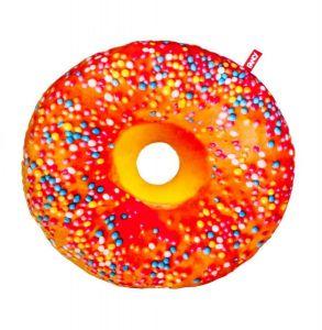 Подушка декоративная Пончик апельсиновая глазурь
