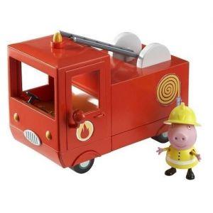 Игровой набор Свинка Пеппа - ПОЖАРНАЯ МАШИНА ПЕППЫ (машина, фигурка Пеппы)