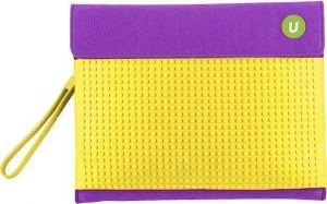 Клатч для планшета Upixel - Пурпурно-желтый