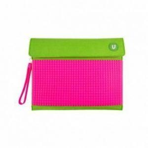 Клатч Upixel для планшета Зелено-малиновый