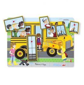 Звуковой деревянный пазл Школьный автобус Melissa & Doug, MD739