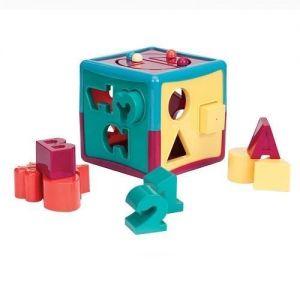Развивающая игрушка-сортер BATTAT LITE - УМНЫЙ КУБ (12 форм)