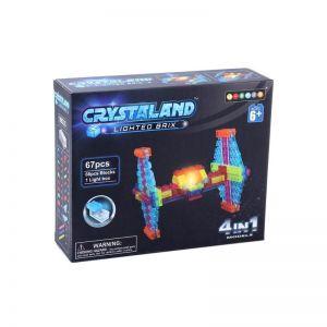 Светящийся конструктор CRYSTALAND Космический корабль 4 в 1