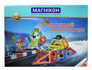 Магнитный конструктор 3-D МАГНИКОН 98 деталей