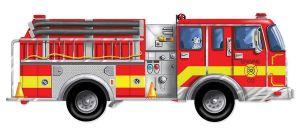 Напольный пазл Melissa & Doug - Большая пожарная машина, 24 элемента, MD10436
