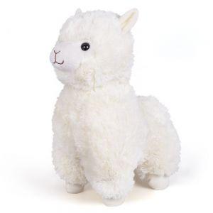 Гламурная мягкая игрушка Альпака белая FANCY