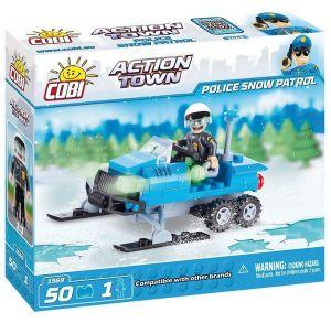 Конструктор Полицейский снежный патруль COBI Action Town 50 деталей