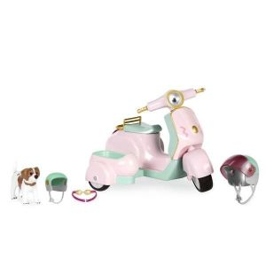Транспорт для кукол LORI Скутер с коляской и собачкой LO37034Z