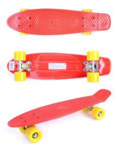 Скейт GO Travel красный ярко-желтые колеса 56 см