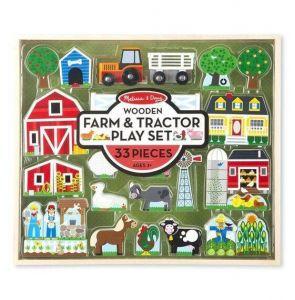 Деревянный игровой набор Melissa & Doug Ферма и трактор MD14800
