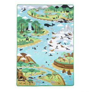 Игровой коврик Melissa & Doug с фигурками животных Путешествие по миру MD15192
