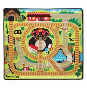Игровой коврик с паровозиками - Железная дорога, Melissa & Doug MD19554