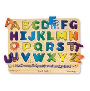 Звуковой пазл Английский алфавит, Melissa&Doug MD340