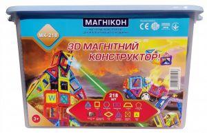 МАГНИКОН конструктор магнитный 3D Plastic box 218 деталей